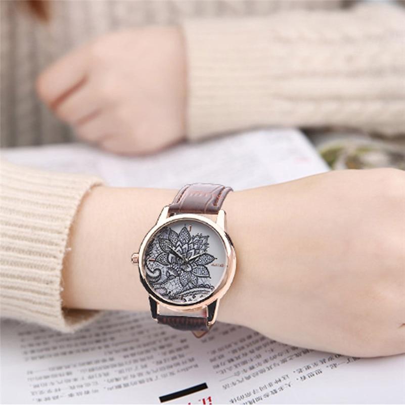 OKTIME brand luxury lady girl women watch Fashion Leather Band Analog Quartz Round woman Wrist Watch Watches wholesale