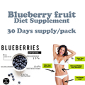 3 Bottles,  pure blueberry natural weight loss product with potent formula for fat loss, 1 slim tea bag for free diet