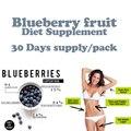3 Garrafas, pura blueberry natural produto da perda de peso com potente fórmula para a perda de gordura, 1 fino saco de chá para a dieta livre