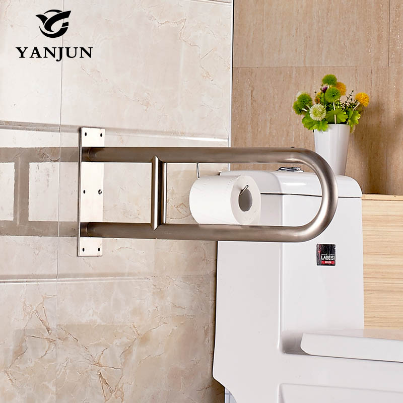 YANJUN Stainless Steel Disability Grab Rail Support Handle Bar Bathroom Safety Aid YJ-2017 yanjun flip up stainless steel disability grab rail support handle bar bathroom safety aid hand rail steel anti slip foryj 2011