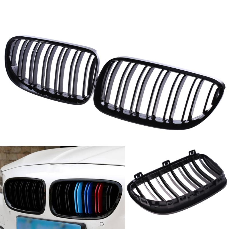 2Pcs Front Kidney Grille for BMW E92 E93 10-13 Car Racing Grille Black High Quality Car Decorative Accessory Front Kidney Grile