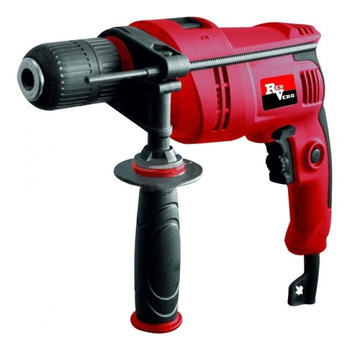 Impact drill RedVerg RD-ID700S (Power 700 W speed 3000об/min, reverse) electric drill screwdriver redverg rd sd330 330 w power torque 15нм 2 speed