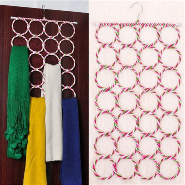 9 12 16 28 Holes Scarf Hanger Multi Scarves Display Hang Ties Belt