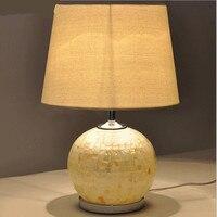 Modern Handmade Tiffany White Glass Fabric Led E27 Table Lamp For Wedding Decor Bedroom Livingroom AC
