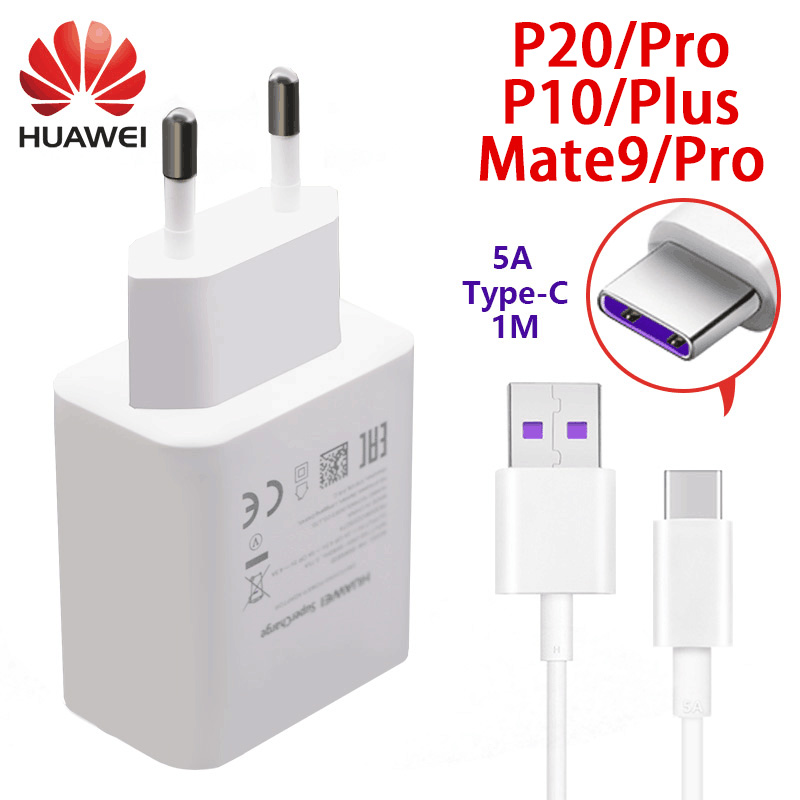 Huawei P20 P10 Pro lite P9 plus fast charger 5v 4.5a & 4.5v 5a USB adapter quick charger type-c cable P 9 mate9 mate10 adapter
