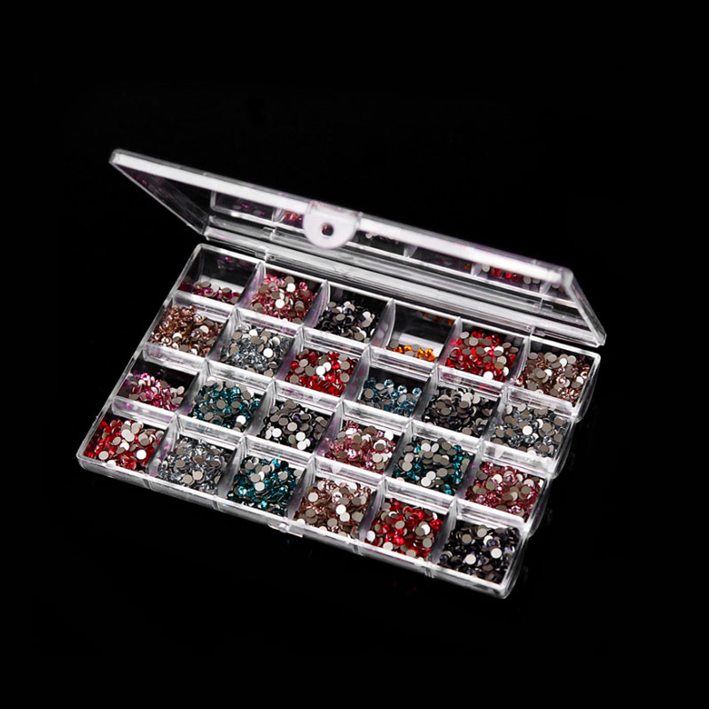 24 Grids Transparent Jewelry Bead Ring Earring Storage Box Acrylic Container New