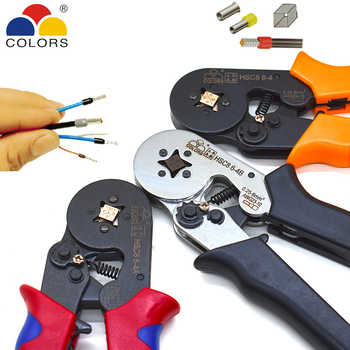 COLORS HSC8 6-4 0.25-6mm2 23-10AWG crimping pliers 700pcs terminals for tube type needle type terminal crimp self-adjusting tool - DISCOUNT ITEM  34 OFF Tools