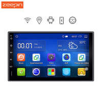 Zeepin 2 Din Car Multimedia Player 7 Inch Android 5.1 WiFi+GPS Navigation Quad Core Car DVD Player For Honda Ford Peugeot