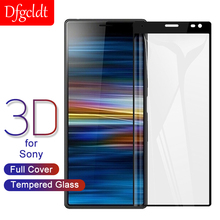 3D Tempered Glass Curved Full Cover for Sony Xperia 10 Plus XZ XZ2 Premium XZ1 XZ3 XZ4 Compact XA2 Ultra Screen Protector Film