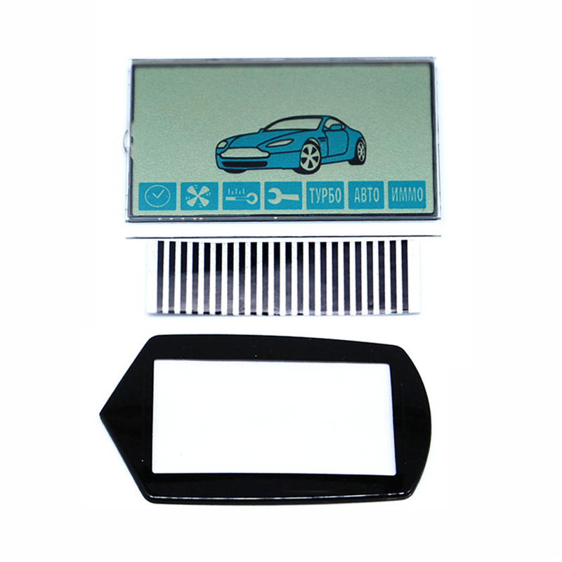 A91 LCD Display Flexible Cable + LCD Keychain Glass For Starline A91 Remote Controller Display With Zebra Stripes Free Shipping