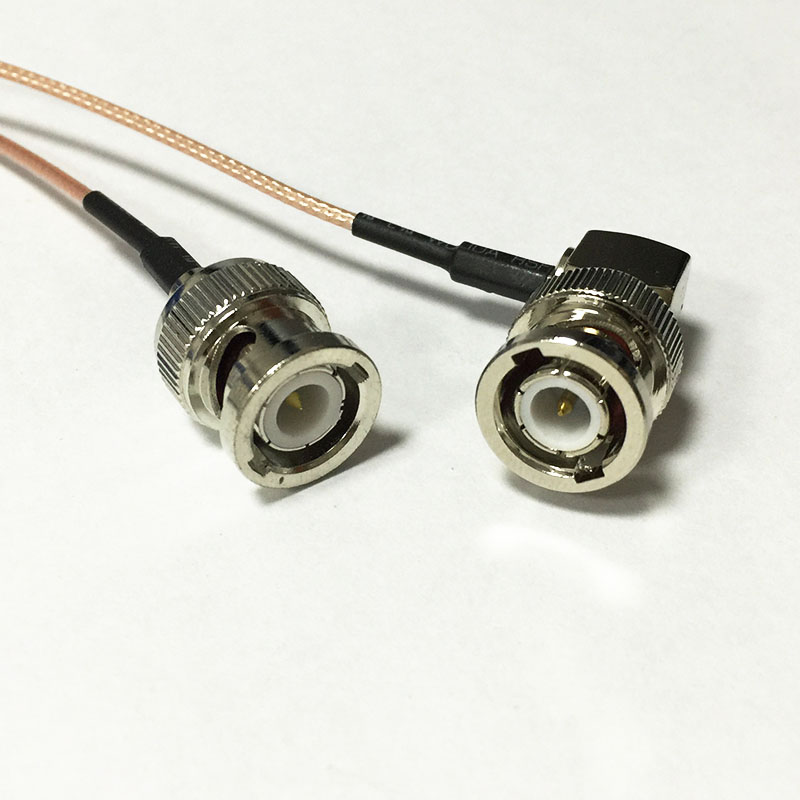 """iRad 36/"""" SHV to SHV  Coaxial Cable Assembly Black w Strain Reliefs"""