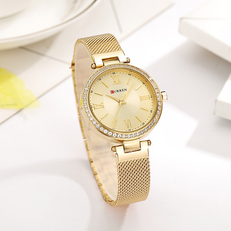 Image 4 - CURREN Rose Gold Watch Women Watches Ladies Stainless Steel Women's Bracelet Watches Female Relogio Feminino Montre Femme 9011-in Women's Watches from Watches