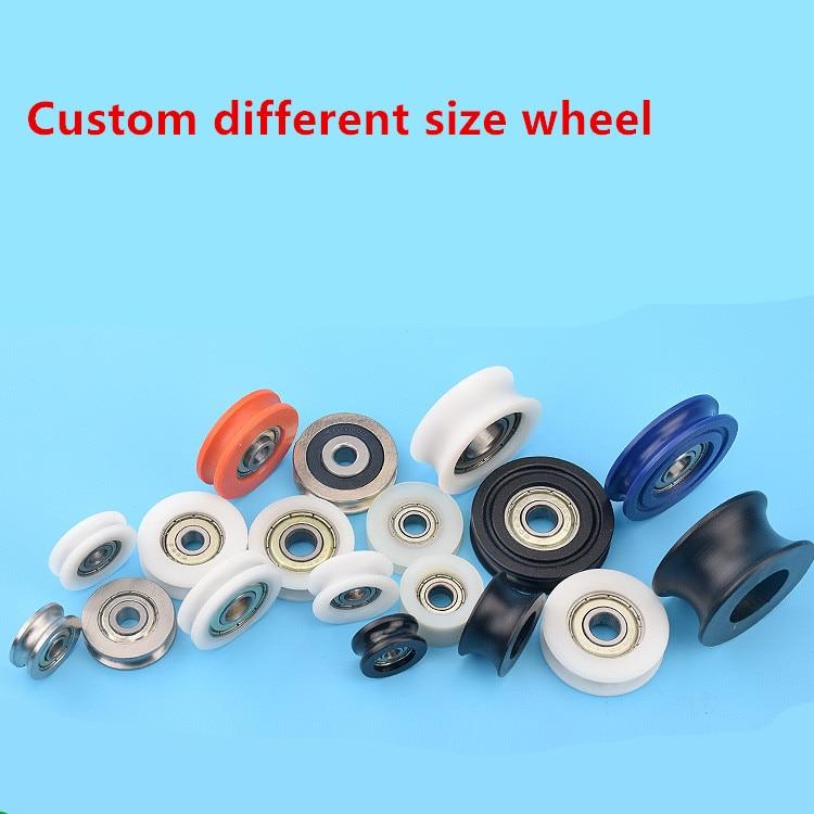 Honesty 1000pcs High Quality Customize Delrin/pom Sliding Door Roller Wheel Shower Room Drawer Wardrobe Roller Wheel Pulley Whole
