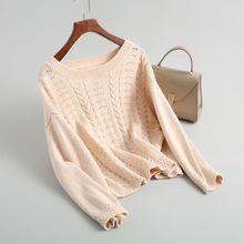 Shuchan Sweater For Women Top Female Women Autumn 2018 Pullovers O-neck Casual Hollow Out Women's Knitted Sweaters  8-3331 цена и фото