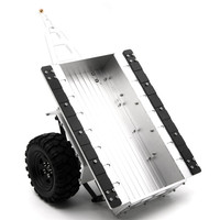 1pc Silver 1/10 Scale Aluminum Trailer For SCX10 CC01 F350 HILUX 90034 RC4WD D90 RC Crawler Top Quality