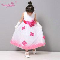 New Arrival Flowers Fashion Cute Girls Dress Fashion Princess Tulle Dresses Children Tutu For Girls Free