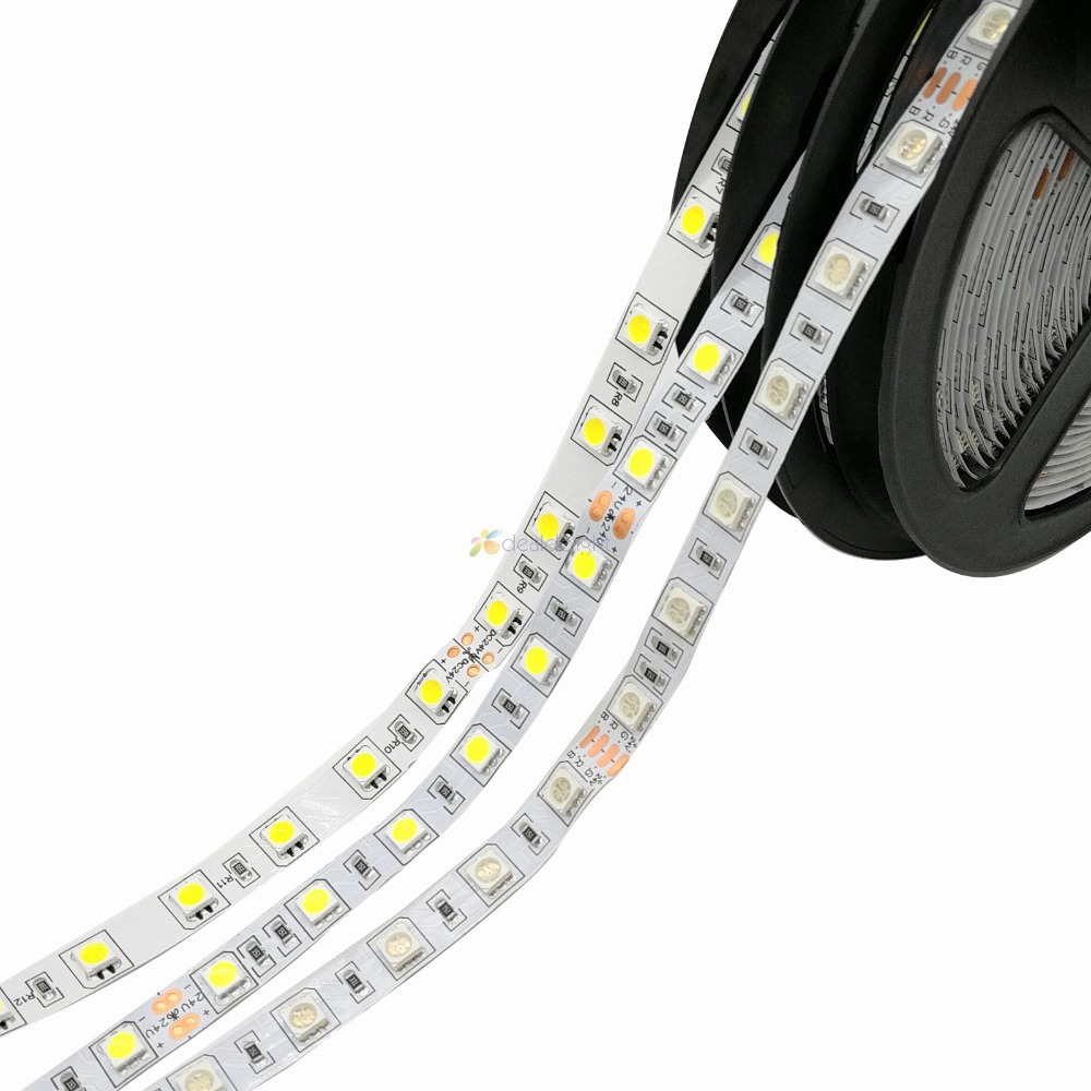 24V 5050 SMD led strip 60leds/m 5m/lot,IP20/IP65/IP67 Waterproof Flexible LED Light ,White warm White RGB 5m 300pcs 5050 smd leds 72w 2000lm ip65 waterproof highlight decoration black strip lamp warm white light