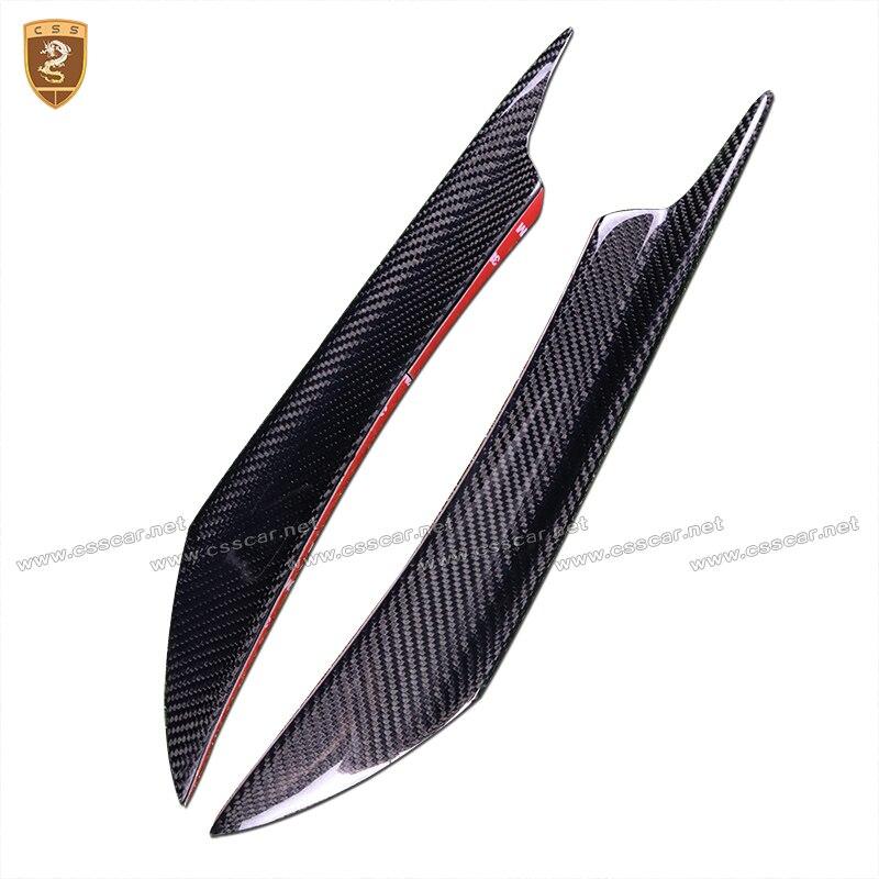 Углеродного волокна, пригодный переднего бампера для губ Splitter Fin Air Ножи Авто обвес автомобиль спойлер аксессуар для BMW E46 VW ford Универсальный