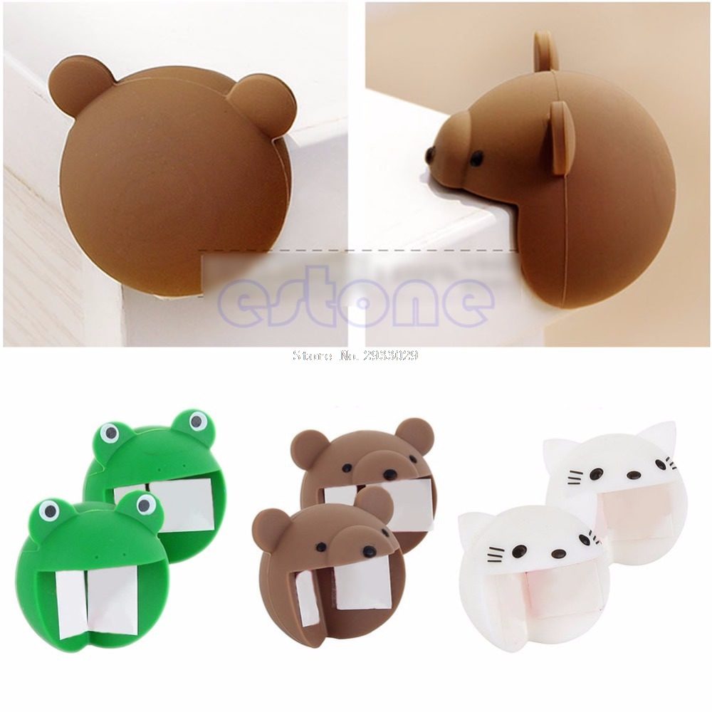 2pcs Cute Silicone Baby Safety Protector Desk Table Corner Edge Protection Cover B116