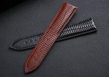 Explosive crocodile skin pattern leather strap Butterfly buckle watch band Lizard pattern