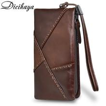 DICIHAYA Men Wallets Genuine leather Long Style Card Holder