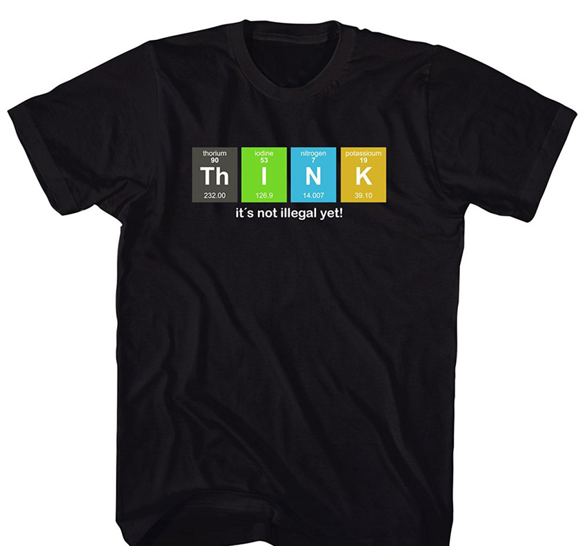 Geek Think Science Physics Nerd 700794 T Shirt Harajuku Cool New Funny Tshirt Homme