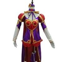 2018 LOL Custom made Heartseeker Ashe Cosplay Costume lol Uniform Sexy Dress Halloween Costume