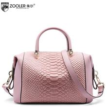 2017 New  genuine leather women bag brand fashion quality serpentine fashion boston bag women leather handbags shoulder bag