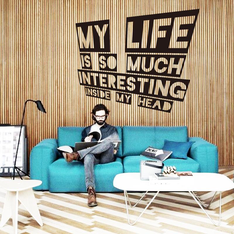 Kunst Decor Neues Design Umwelt Wasserdicht Dekoration Englisch Leben Zeichen Wandaufkleber Fr Wohnzimmer Oder Schlafzimmer