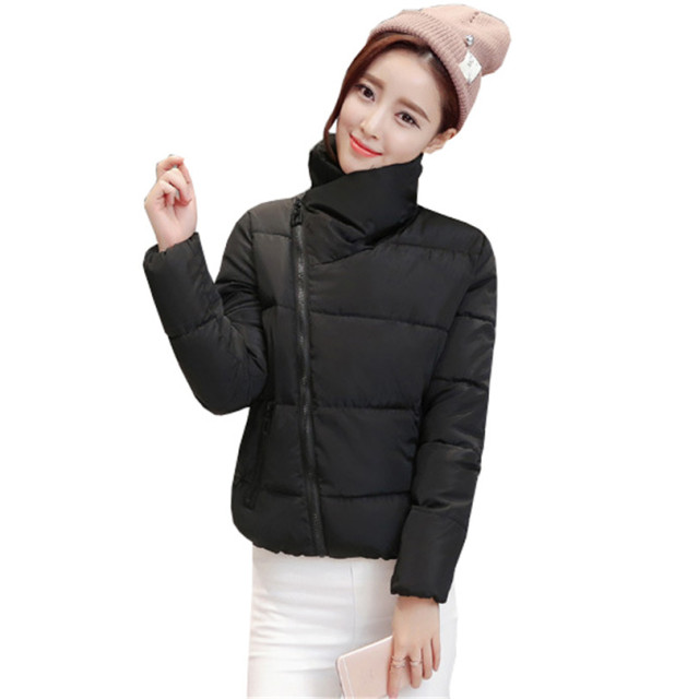 Winter Fashion Women Jackets Short Design Cotton Padded Pink Coats Causual Warm Hoodies Slim Padded Parkas Casaco Feminino S274