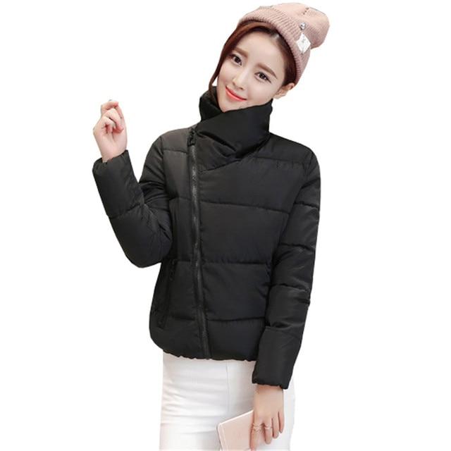 Winter Fashion Women Jackets Short Design Cotton Padded Pink Coats Causual Warm Hoodies Slim Padded Parkas Casaco Feminino S274