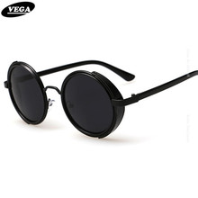 10bceafa25c VEGA 80s 90s Steampunk Sunglasses Men Women Unique Circle Hippie Sunglasses  Gothic Hipster Glasses Vintage Spectacles 3064
