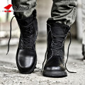 Z. Suo High Quality Genuine Leather Men Boots Black Military Boots Tactical Boots Army Boots Men botas Leather Shoes Men Shoes