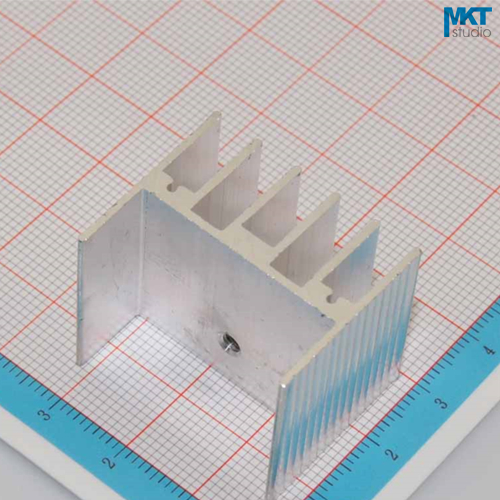 100Pcs 30mmx25mmx25mm Pure Aluminum Cooling Fin Radiator Heat Sink