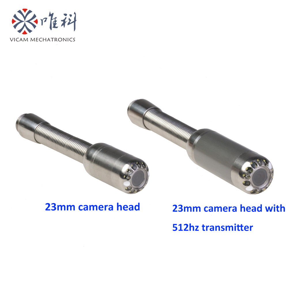 Spare parts Dia 23mm stainless steel waterproof sewer inspection camera head with transmitter