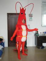 Vente chaude crevettes costume adulte crevettes mascotte costume