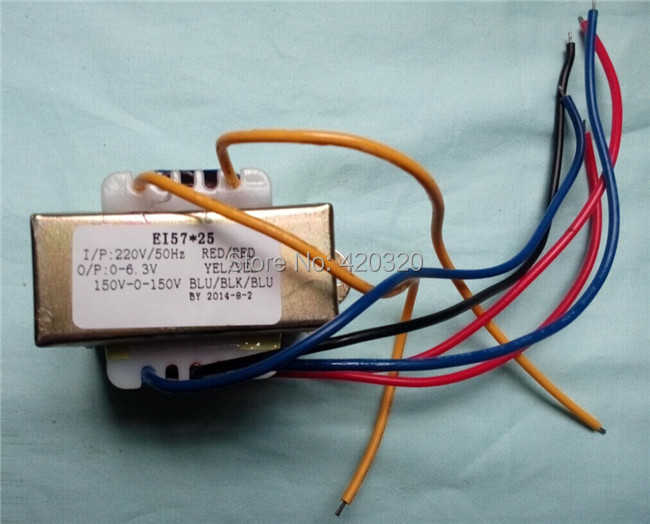 Dual 150V-0-150V(5W) + 6.5V(10W) 6N3 preamplifier Transformer for pre-amp tube amplifier