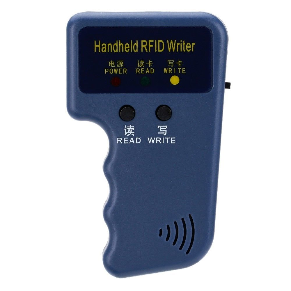 Portable Handheld 125KHz RFID ID Card Writer/Copier Duplicator EM4100 RFID Copier Writer Duplicator Programmer Reader 125khz rfid reader rfid card reader writer and softeware to em4100 5pcs id card