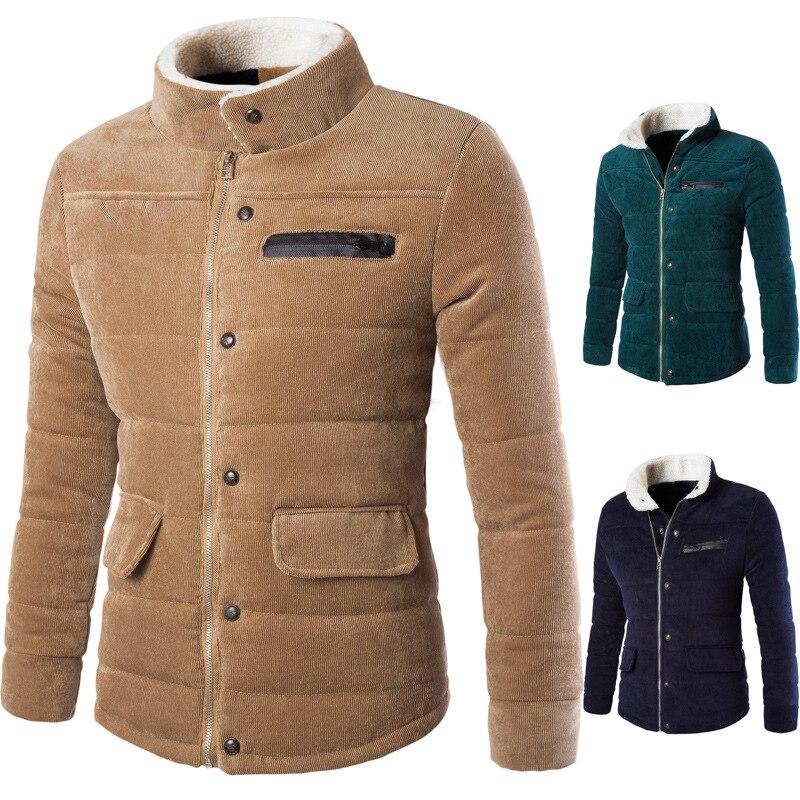 2017 Winter Jacket Men s Warm Coat Jacket mens Parkas Jackets Men s coat Zipper Stand