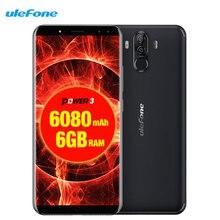 "Ulefone Puissance 3 Du Visage ID 6.0 ""18:9 FHD 6080 mAh 6 GB RAM + 64 GB 21 M + 13MP Smartphone Android 8.1 Octa base + 4 Caméras 4G Téléphone portable"
