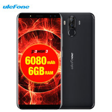 Ulefone Power 3 Facial ID 6.0″18:9 FHD 6080mAh 6GB RAM+64GB 21M+13MP Smartphone Android 8.1 Octa Core + 4 Cameras 4G Cell Phone