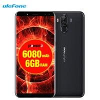 Ulefone power 3 Facial ID 6,0 18:9 FHD 6080 мАч 6 ГБ оперативная память + 64 21 м 13MP Смартфон Android 7,1 Octa Core 4 камеры г сотовый телефон