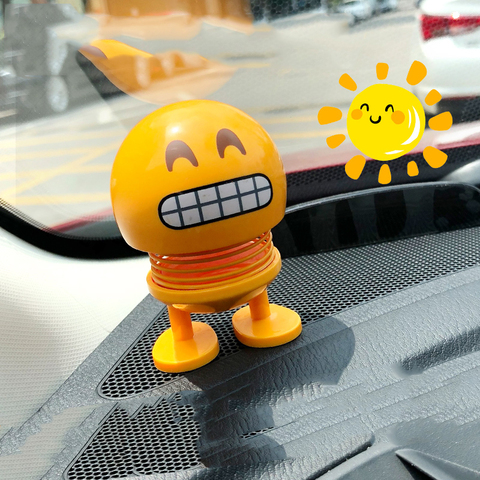 Cartoon Expressions Series Spring Head Shaking Dolls car accessories interior decoration Automotive interior decorations ornamen Islamabad