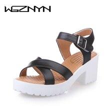 WGZNYN 2020 Summer Women Heel Sandals Shoes Women Wedges Pla