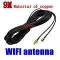 O Envio gratuito de 9 M RP-SMA Cabo de Extensão WiFi Antena para Adaptador Wireless Router Wi-Fi 254, quer de boa qualidade, por favor nos escolher