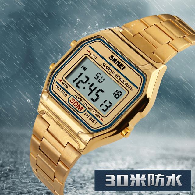 Homens Do Esporte Relógio Digital À Prova D' Água Calendário Crono LEVOU Relogio masculino Top Marca de luxo Moda Casual Relógios de Pulso