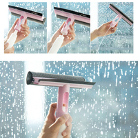 Water spray wash window cleaning brush glass shower door smooth floor cleaner spray water window wiper function three in one