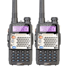2PCS/LOT Dual Band Transceiver UV-5RD VHF UHF Walkie Talkie with Free Headset BAOFENG UV-5RD