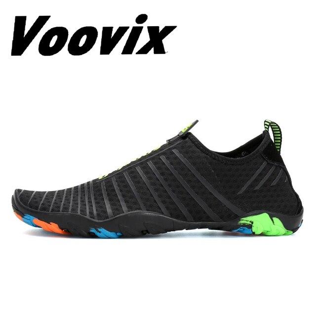 c981a07688e2 Voovix Men Women Aqua Sport Shoes Quick Drying Beach Barefoot Light  Sneakers Unisex Skin shoes