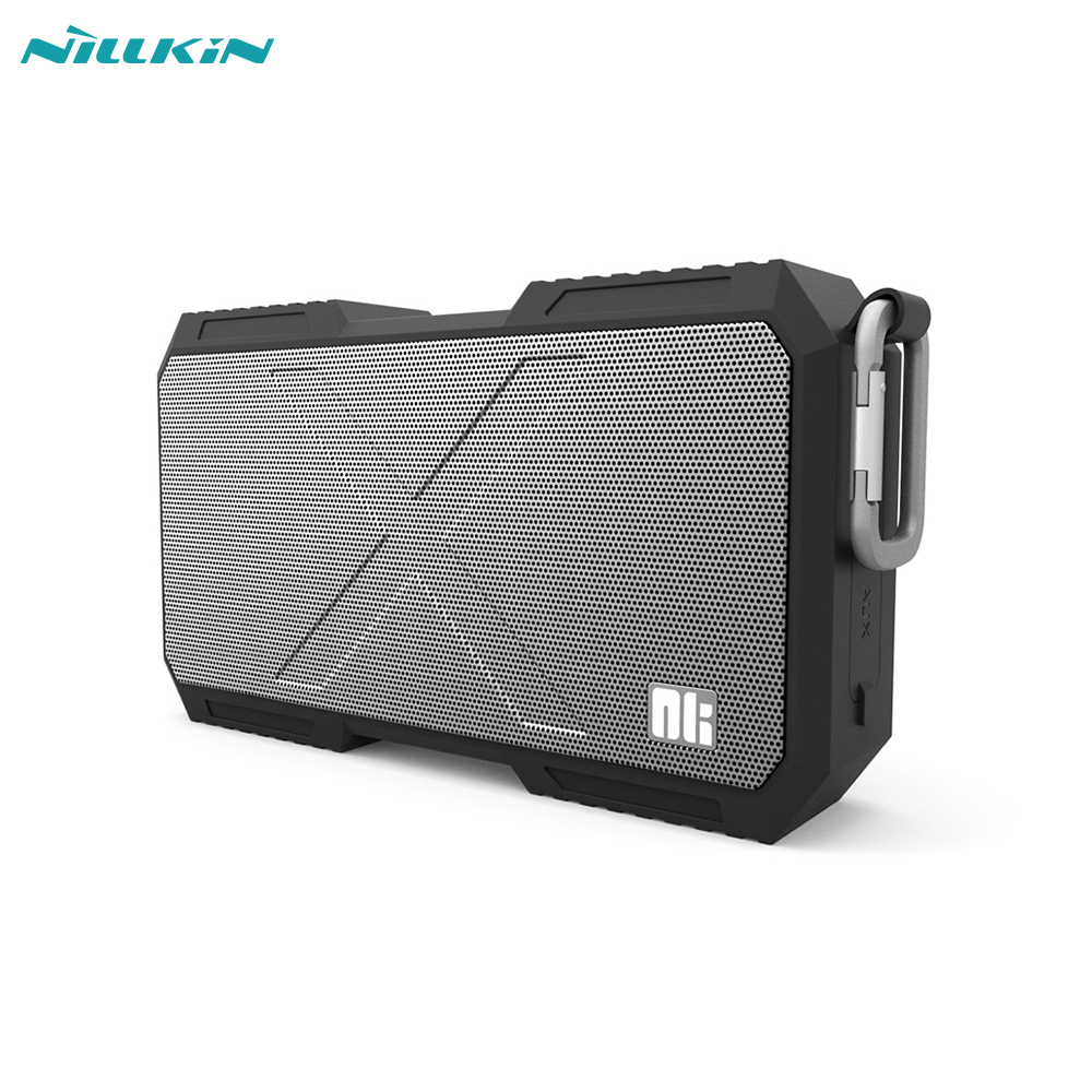 Nillkin X-man Bluetooth Speaker Phone Charger Music Surround Wireless Speaker Wire for IPX4 Support AUX Input Black h1005 bluetooth 4 0 speaker tumbler design black